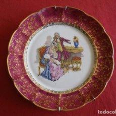 Antiquitäten - ANTIGUO PLATO CON ESCENAS ROMANTICA , , VERR - 62195572