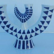 Antigüedades: CANDELABRO PORCELANA SARGADELOS 22 CMS X 16CMS. Lote 62196866