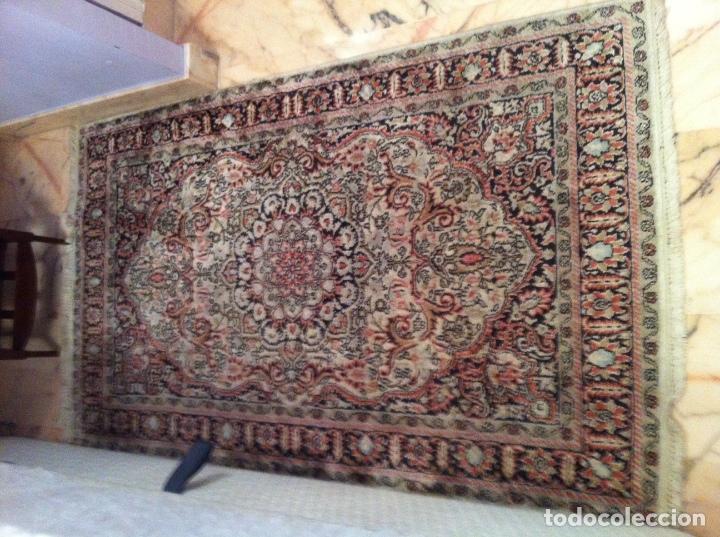 Antigüedades: Alfombra de lana y seda Iraní - Foto 2 - 62199684