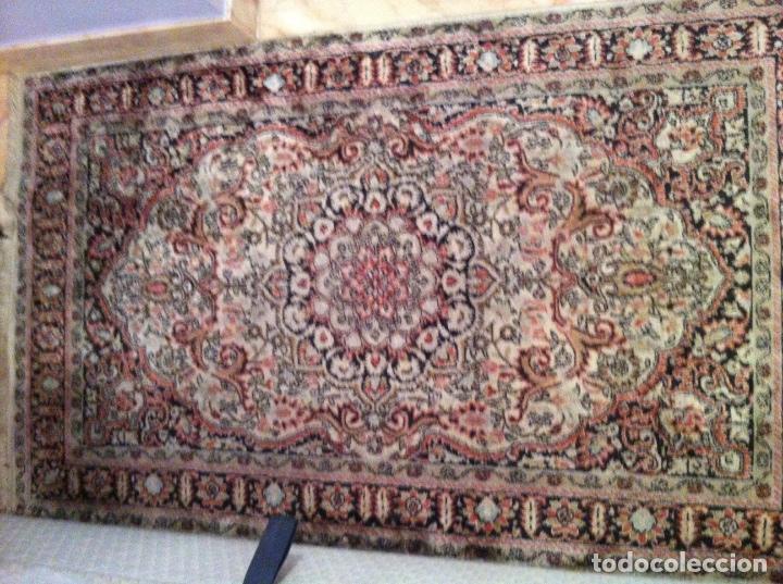 Antigüedades: Alfombra de lana y seda Iraní - Foto 3 - 62199684