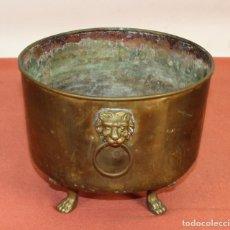 Antigüedades: JARDINERA ESTILO IMPERIO. BRONCE Y LATÓN. ESPAÑA. SIGLO XX.. Lote 62232068