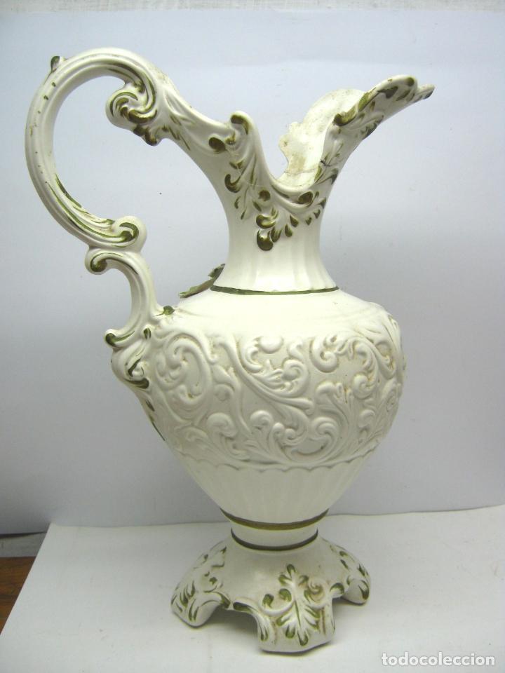 Antigüedades: 42 cm - Impresionante Jarra aguamanil Capodimonte Comacchio Italia - Foto 2 - 62238044