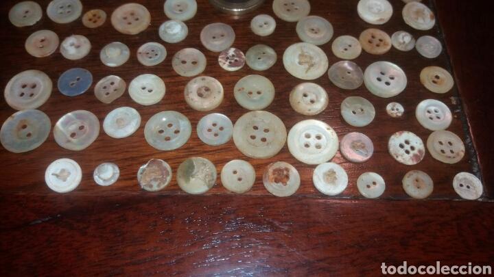Antigüedades: Lote botones de nacar antiguos + de 100. botón ropa - Foto 2 - 62308164