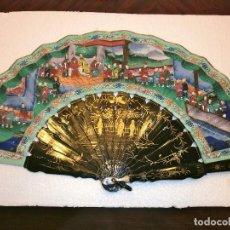 Antigüedades: ABANICO CHINO MIL CARAS. Lote 62316212
