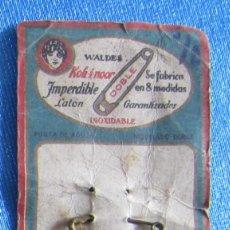 Antigüedades: IMPERDIBLE DE LATÓN WALDES KOH I NOR. FABRICACIÓN ESPAÑOLA, SIN FECHA.. Lote 62337228