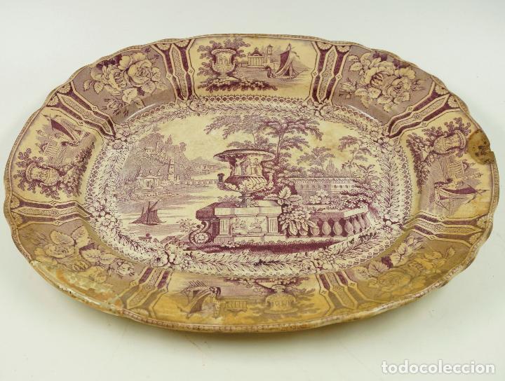FUENTE DE SARGADELOS S.XIX 29 X 34 CM. (Antigüedades - Porcelanas y Cerámicas - Sargadelos)