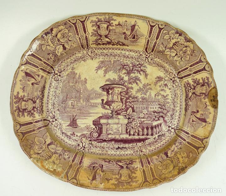Antigüedades: FUENTE DE SARGADELOS S.XIX 29 X 34 CM. - Foto 2 - 62372956