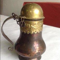 Antigüedades: CHOCOLATERA EN COBRE CON TAPA. SXVIII-XIX. Lote 62387432