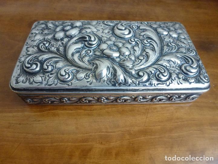 Antigüedades: Caja de plata repujada, contraste Howard & Co - Foto 2 - 62398744