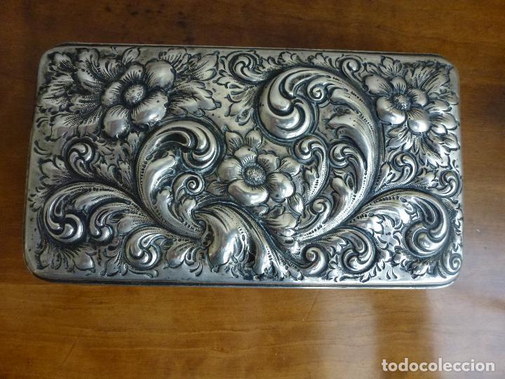 Antigüedades: Caja de plata repujada, contraste Howard & Co - Foto 3 - 62398744
