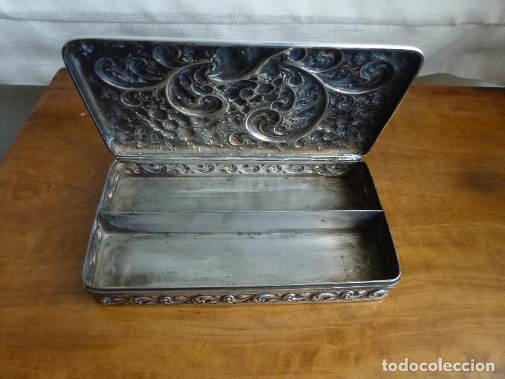 Antigüedades: Caja de plata repujada, contraste Howard & Co - Foto 7 - 62398744