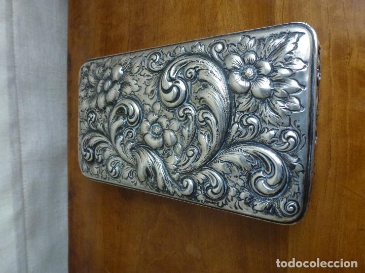 Antigüedades: Caja de plata repujada, contraste Howard & Co - Foto 8 - 62398744