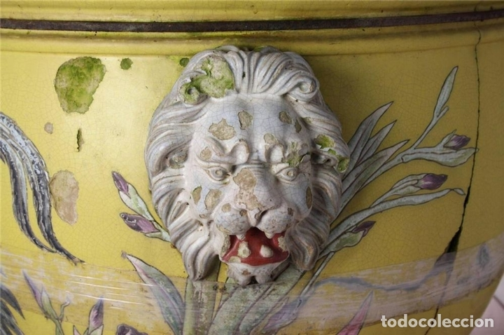 Antigüedades: PECERA O JARDINERA ORIENTAL. CERAMICA ESMALTADA. CHINA. SIGLO XIX - Foto 7 - 62415776