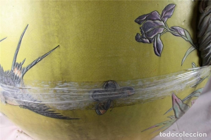 Antigüedades: PECERA O JARDINERA ORIENTAL. CERAMICA ESMALTADA. CHINA. SIGLO XIX - Foto 10 - 62415776