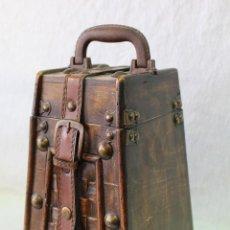 Antigüedades: CAJA EN MADERA Y PIEL. Lote 95721220