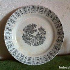 Antigüedades: BONITO PLATO ANTIGUO LLANO DE PICKMAN DE LA CARTUJA DE SEVILLA EN TONO AZUL. Lote 62435180