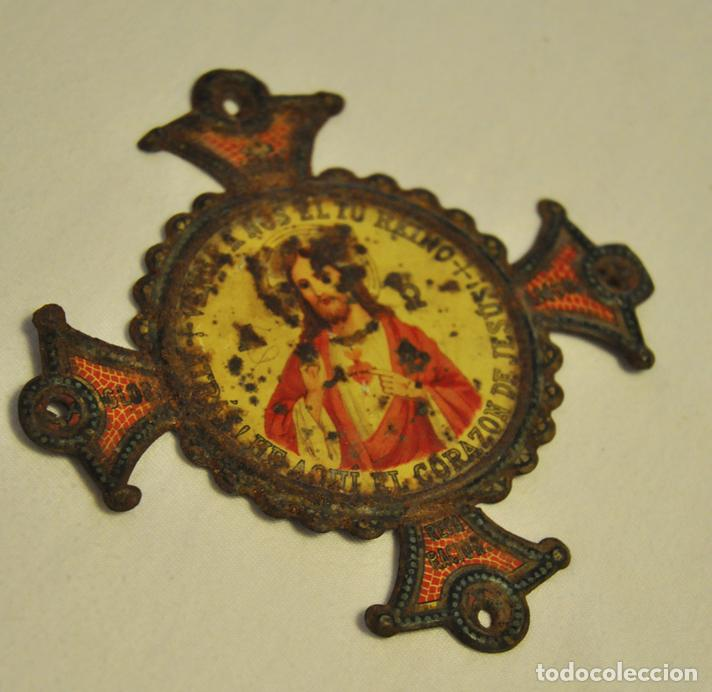 ORNAMENTO TIPO CRUZ, RELIGIOSO (Antigüedades - Religiosas - Ornamentos Antiguos)