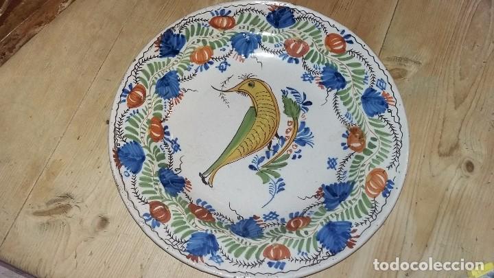 PLATO ANTIGUO CERAMICA (Antigüedades - Porcelanas y Cerámicas - Manises)