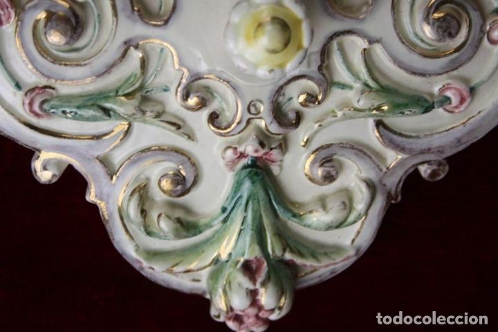 Antigüedades: GRAN ESPEJO. MAYÓLICA. HUGO LOONITZ. ESMALTADA A MANO. ALEMANIA. FIN SIGLO XIX. - Foto 14 - 62511500