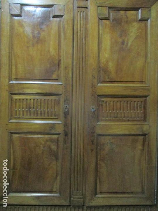 Antigüedades: Precioso Armario Provenzal - Francia - Luis XV - Madera de Nogal - Achanfranado - S. XVIII - Foto 5 - 62534216