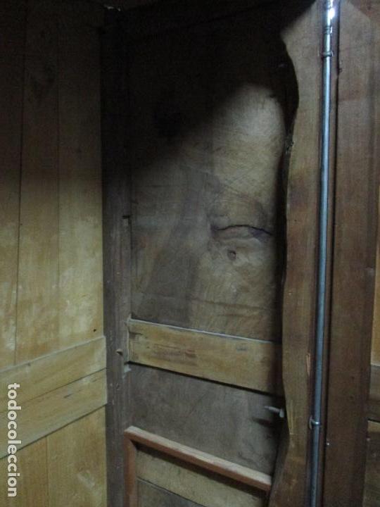 Antigüedades: Precioso Armario Provenzal - Francia - Luis XV - Madera de Nogal - Achanfranado - S. XVIII - Foto 32 - 62534216