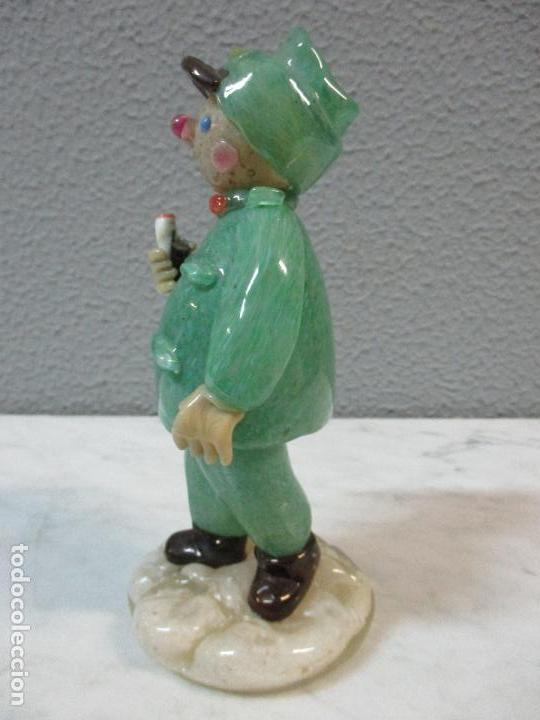 Antigüedades: Antigua Figura - Sereno - Cristal de Murano - Diferentes Colores - 19 cm Altura - de Colección!!! - Foto 8 - 62538692
