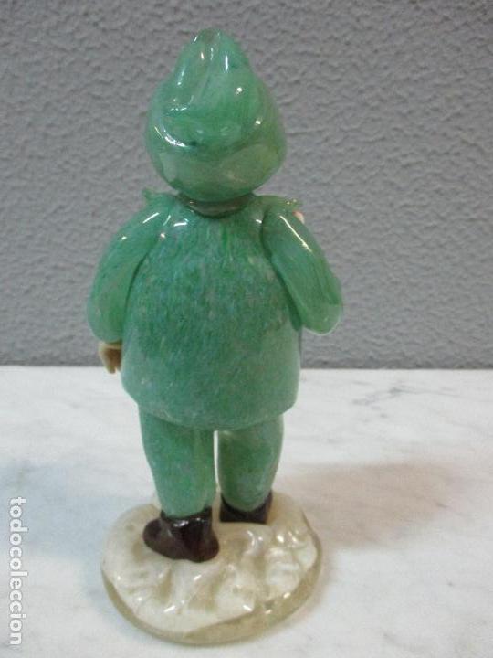 Antigüedades: Antigua Figura - Sereno - Cristal de Murano - Diferentes Colores - 19 cm Altura - de Colección!!! - Foto 11 - 62538692