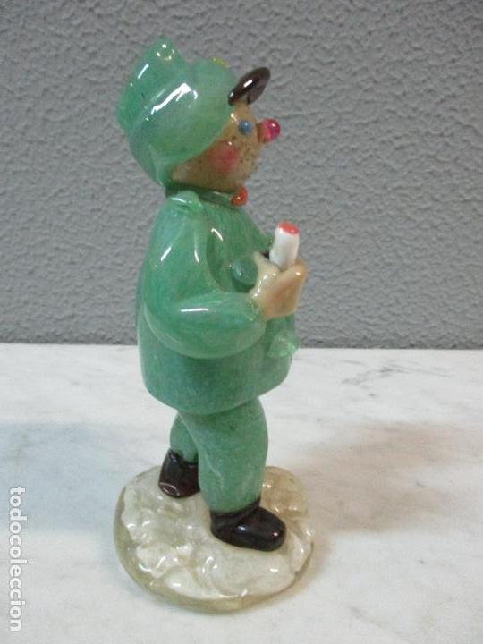 Antigüedades: Antigua Figura - Sereno - Cristal de Murano - Diferentes Colores - 19 cm Altura - de Colección!!! - Foto 13 - 62538692