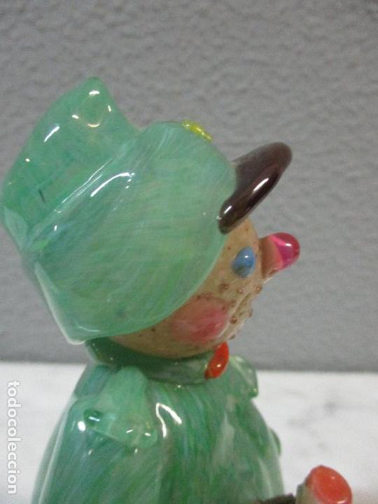 Antigüedades: Antigua Figura - Sereno - Cristal de Murano - Diferentes Colores - 19 cm Altura - de Colección!!! - Foto 15 - 62538692