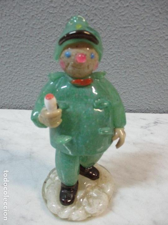 Antigüedades: Antigua Figura - Sereno - Cristal de Murano - Diferentes Colores - 19 cm Altura - de Colección!!! - Foto 18 - 62538692
