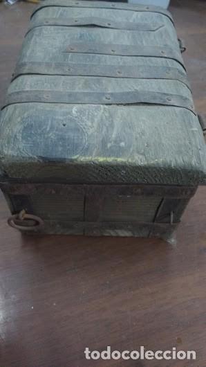 Antigüedades: caja de madera antigua hecha a mano completamente - Foto 2 - 62615684