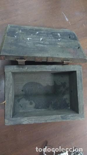Antigüedades: caja de madera antigua hecha a mano completamente - Foto 4 - 62615684