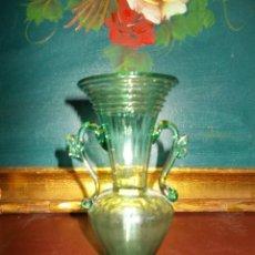 Antigüedades: PRECIOSO JARRONCITO DE CRISTAL SOPLADO MALLORQUIN. Lote 62616972
