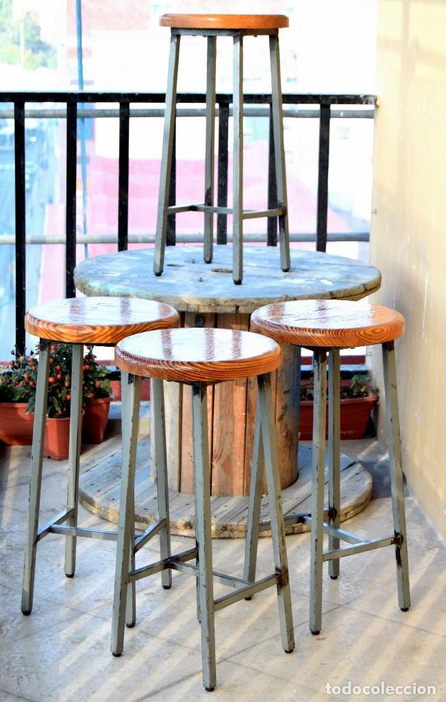 taburete industrial taburetes bar hierro madera - Comprar Sillas ...