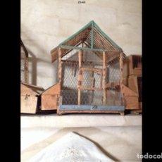 Antigüedades: JAULAS PARA PÁJAROS HECHAS A MANO. Lote 62643050