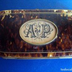 Antigüedades: (ANT-191023)CAJA DE CAREY POSIBLEMENTE PARA BINOCULARES,SIGLO XIX. Lote 62693544