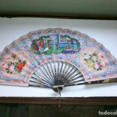 Antigüedades: ABANICO CHINO MIL CARAS. Lote 62699032