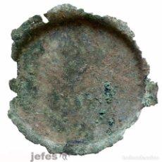 Antigüedades: ENORME ESPEJO MILITAR DE BRONCE ROMANO. Lote 62744972