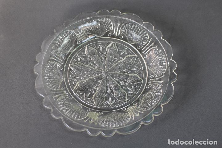 PLATO EN CRISTAL DE SANTALUCIA - CARTAGENA (Antigüedades - Cristal y Vidrio - Santa Lucía de Cartagena)