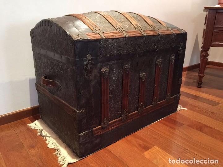 Gran ba l siglo xix comprar ba les antiguos en todocoleccion 62761588 - Baules antiguos ...