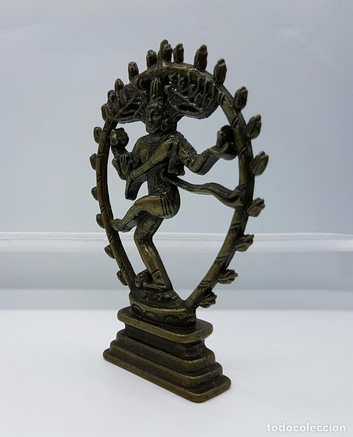 Antigüedades: Antigua figura de el dios Shiva nataraja en bronce . - Foto 2 - 62770948