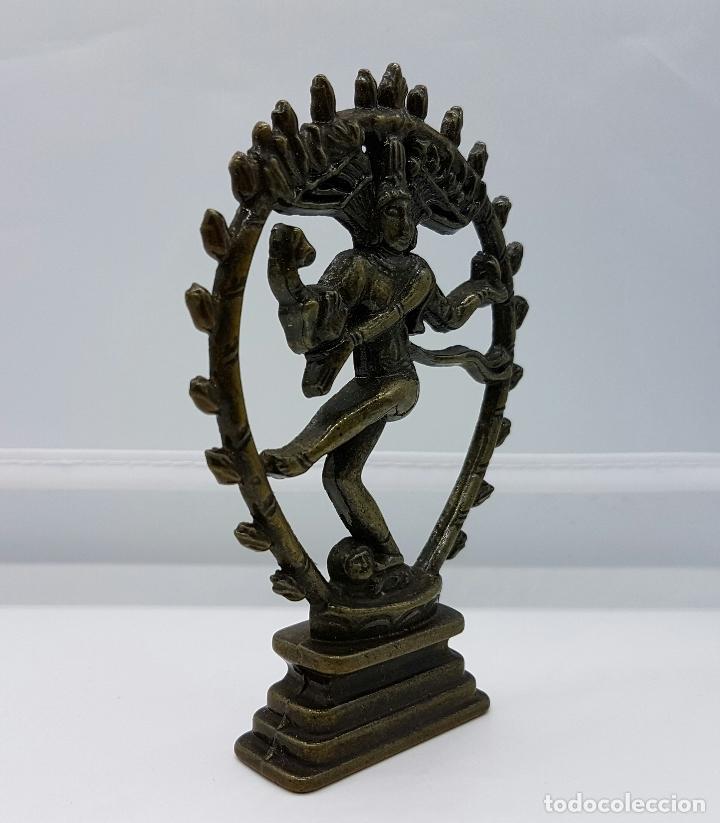 Antigüedades: Antigua figura de el dios Shiva nataraja en bronce . - Foto 4 - 62770948