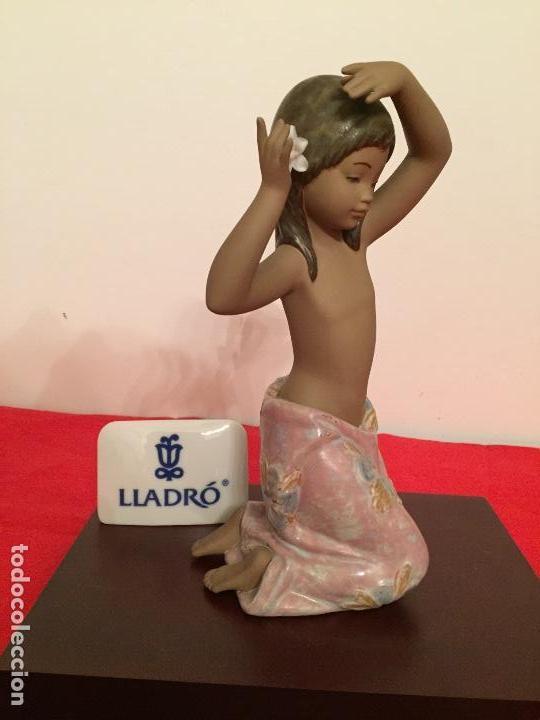 Antigüedades: Preciosa figura de porcelana Lladro flor del trópico acabado en gres - Foto 3 - 62768568