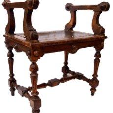 Antiquitäten - Antigua SILLA DE MADERA DE NOGAL banco - 62878996