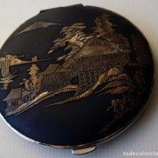 Antigüedades: POLVERA DAMASQUINADO Y PUBLICIDAD DE CERVEZA CARTA BLANCA JAPON. Lote 62911396