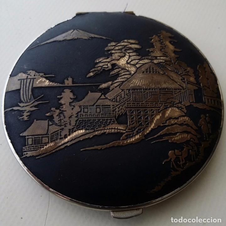 Antigüedades: POLVERA DAMASQUINADO Y PUBLICIDAD DE CERVEZA CARTA BLANCA JAPON - Foto 6 - 62911396