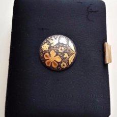Antigüedades: POLVERA DAMASQUINADO Y METAL DORADO S XX. Lote 62913244
