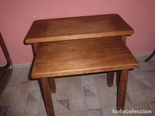 Dorable Muebles De Roble Mesas Nido Bandera - Muebles Para Ideas de ...