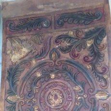 Antigüedades: GUADAMECÍ CORDOBÁN. TRABAJO EN CUERO PINTADO Y LABRADO. Lote 63093068