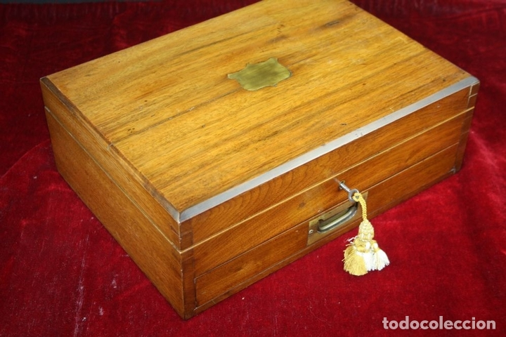 Antigüedades: SET DE CUBIERTOS DE VIAJE. PLATA SHEFFIELD. F. GREEN SONS. INGLATERRA CIRCA 1894 - Foto 30 - 63093280